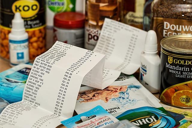 účet za potraviny