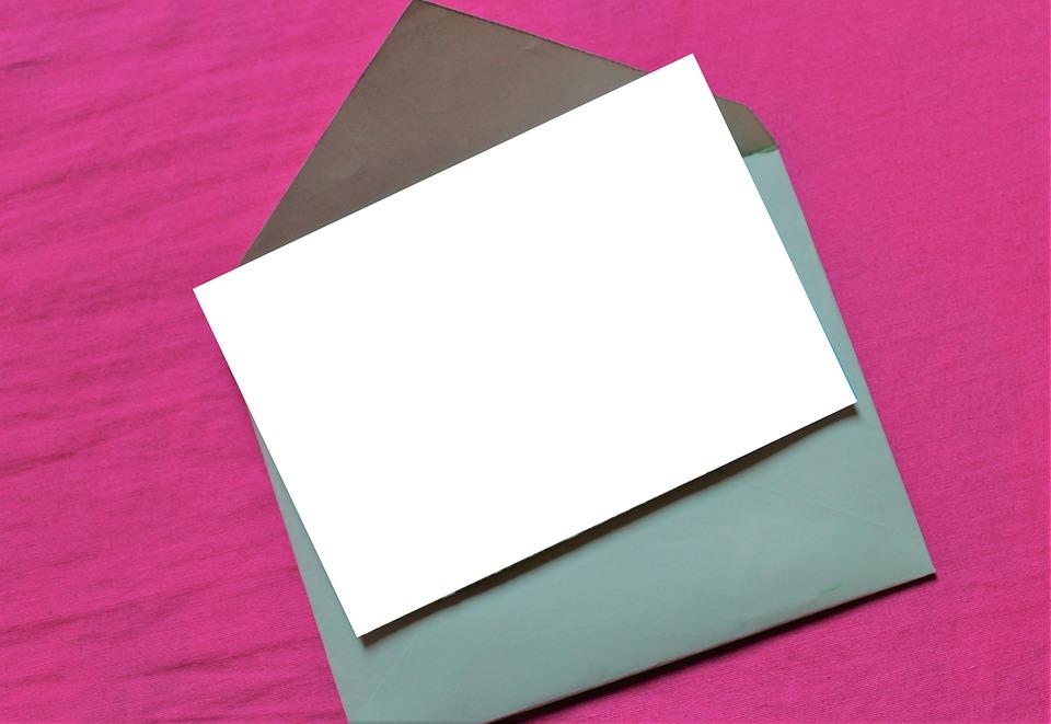 psaní do obálky